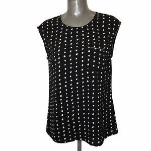 Gaudi Polka Dot Sleeveless Top Size M
